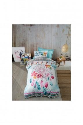 طقم غطاء سرير فردي مزين بالرسم