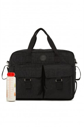 حقيبة تجهيزات بيبي بجيوب - اسود