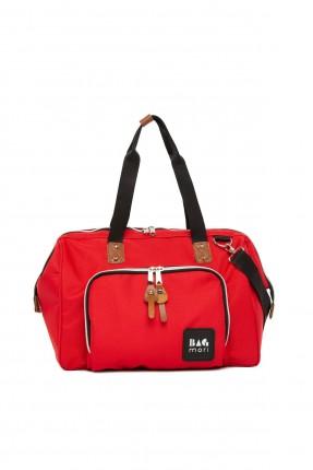 حقيبة تجهيزات بيبي مزينة بسحاب من الخلف