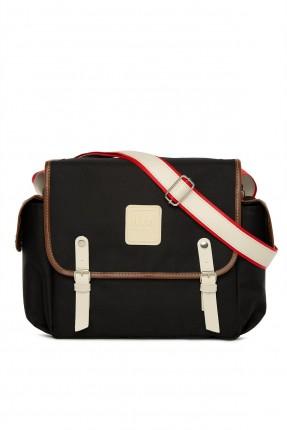 حقيبة تجهيزات بيبي باحزمة - اسود