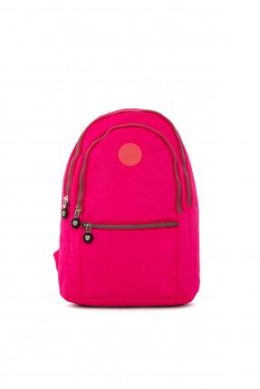 حقيبة ظهر نسائية سادة - فوشيا