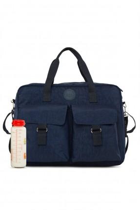 حقيبة تجهيزات بيبي بجيوب بارزة - كحلي