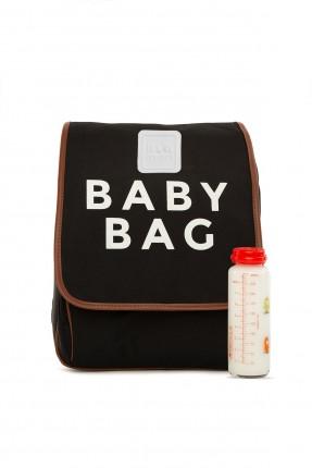 حقيبة تجهيزات بيبي بكتابة - اسود