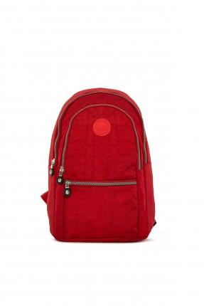 حقيبة ظهر نسائية كلاسيكية - احمر