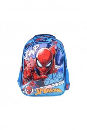 حقيبة ظهر اطفال ولادي بطبعة سبايدر مان - ازرق