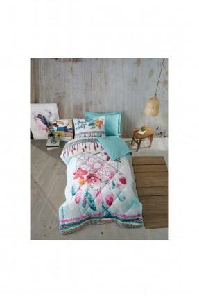 طقم لحاف سرير فردي ملون
