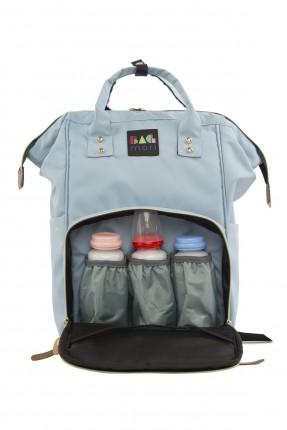 حقيبة تجهيزات بيبي مزينة بشعار الماركة - ازرق