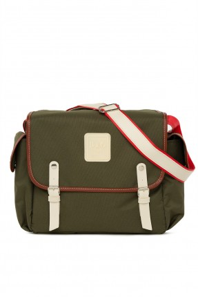حقيبة تجهيزات بيبي باحزمة - زيتي