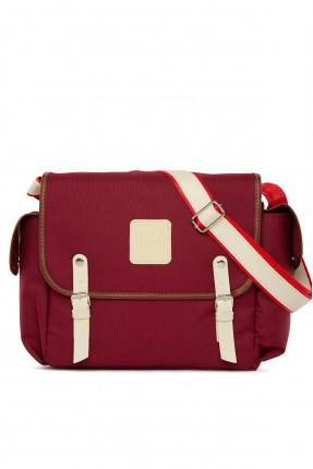 حقيبة تجهيزات بيبي باحزمة - خمري