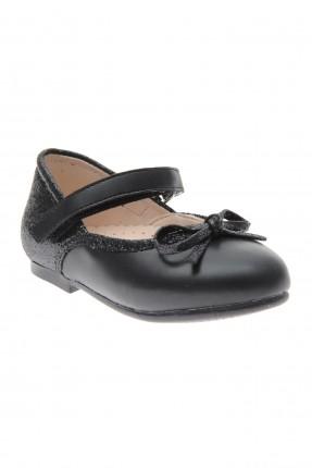 حذاء بيبي بناتي سادة اللون - اسود