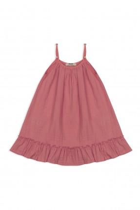 فستان اطفال بناتي حفر - زهري