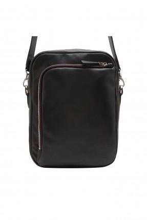 حقيبة رجالية بسحاب امامي - بني