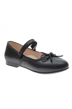 حذاء اطفال بناتي سادة اللون - اسود