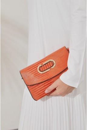 حقيبة يد نسائية شيك - برتقالي