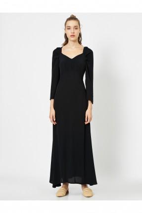 فستان نسائي رسمي سادة اللون - اسود