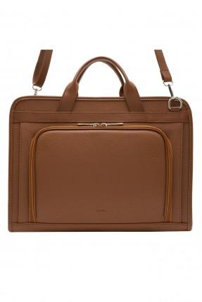 حقيبة يد رجالية جلد بجيب سادة
