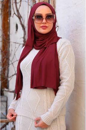 حجاب تركي سادة - خمري