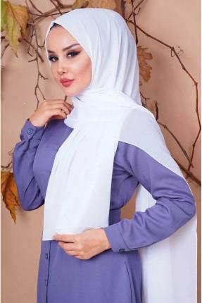 حجاب تركي شيفون - ابيض