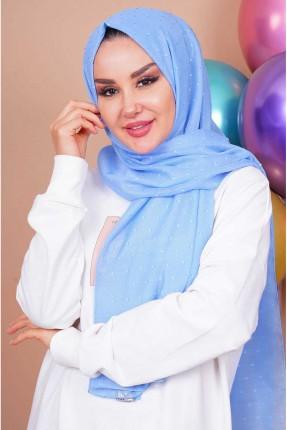 حجاب تركي سادة - ازرق