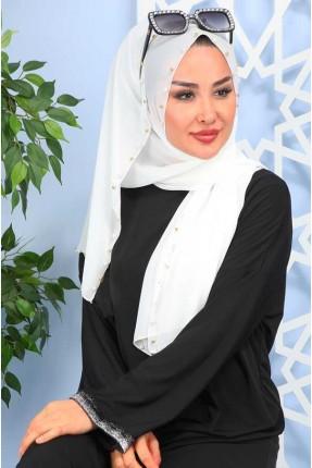 حجاب تركي مزين بلؤلؤ