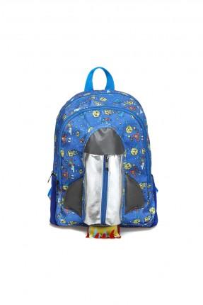 حقيبة ظهر اطفال ولادي بنقشة صاروخ