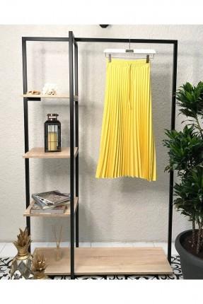 تنورة طويلة سادة اللون - اصفر