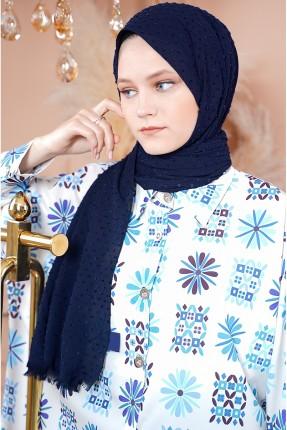 حجاب سادة اللون - كحلي