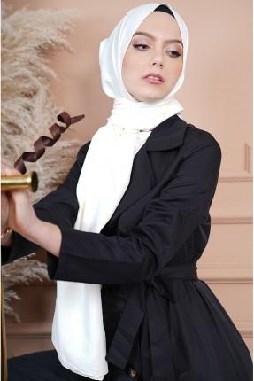 حجاب سادة - ابيض