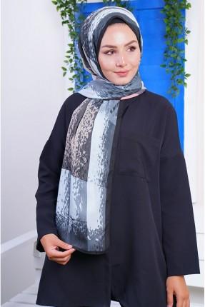 حجاب مزين بنقشة