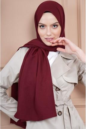 حجاب سادة اللون - خمري