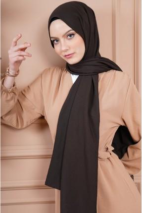 حجاب سادة اللون - بني