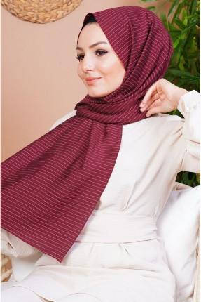 حجاب مخطط - خمري