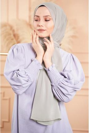 حجاب شيفون سادة اللون