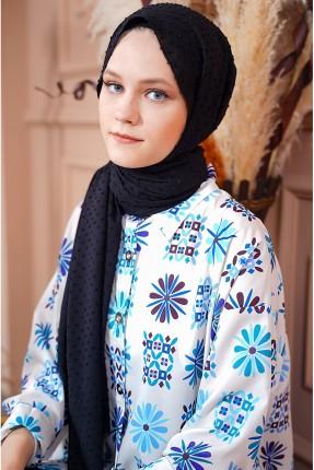 حجاب سادة اللون - اسود
