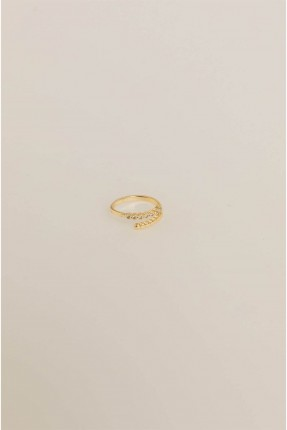 خاتم نسائي بستراس - ذهبي
