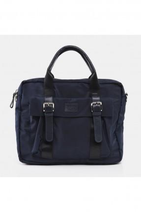 حقيبة يد رجالية مزينة ببكلات - كحلي