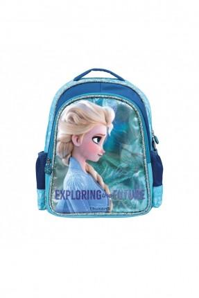 حقيبة ظهر اطفال بناتي بطبعة السا - كحلي