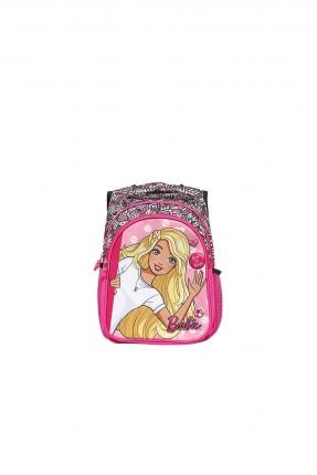 حقيبة ظهر اطفال بناتي بطبعة باربي - زهري