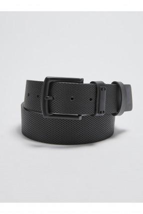 حزام جلد رجالي - اسود