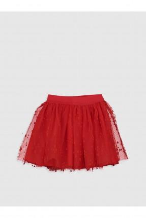 تنورة اطفال بناتي تول - احمر