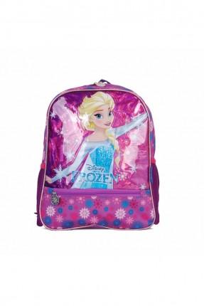 حقيبة ظهر اطفال بناتي بطبعة السا - بنفسجي