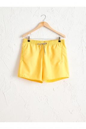 شورت سباحة رجالي سادة اللون - اصفر