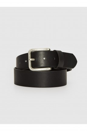 حزام رجالي جلد - اسود