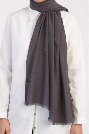 حجاب سادة اللون - رمادي