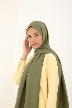 حجاب سادة اللون - اخضر