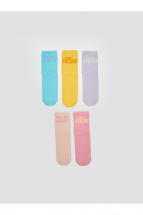 جوارب نسائية ملونة عدد 5
