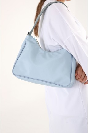 حقيبة يد نسائية بسحاب - ازرق