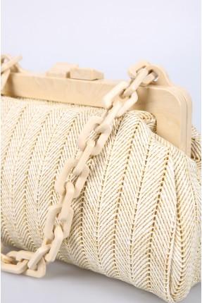 حقيبة يد نسائية بسلسلة