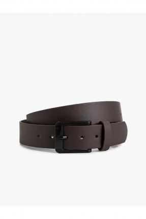 حزام رجالي - بني داكن