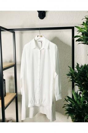 قميص نسائي طويل من الخلف